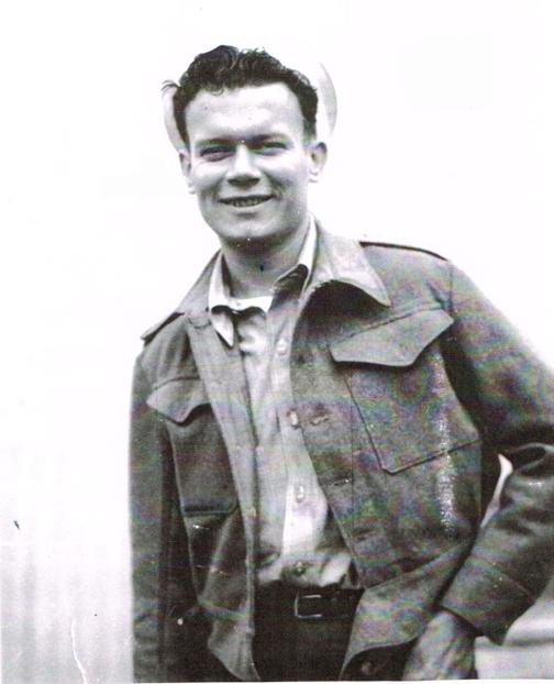 Elmer Carmichael at Survivors Camp 1944
